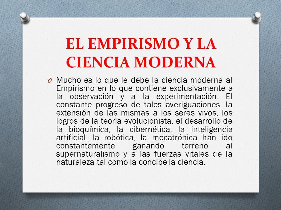 EL EMPIRISMO Y LA CIENCIA MODERNA
