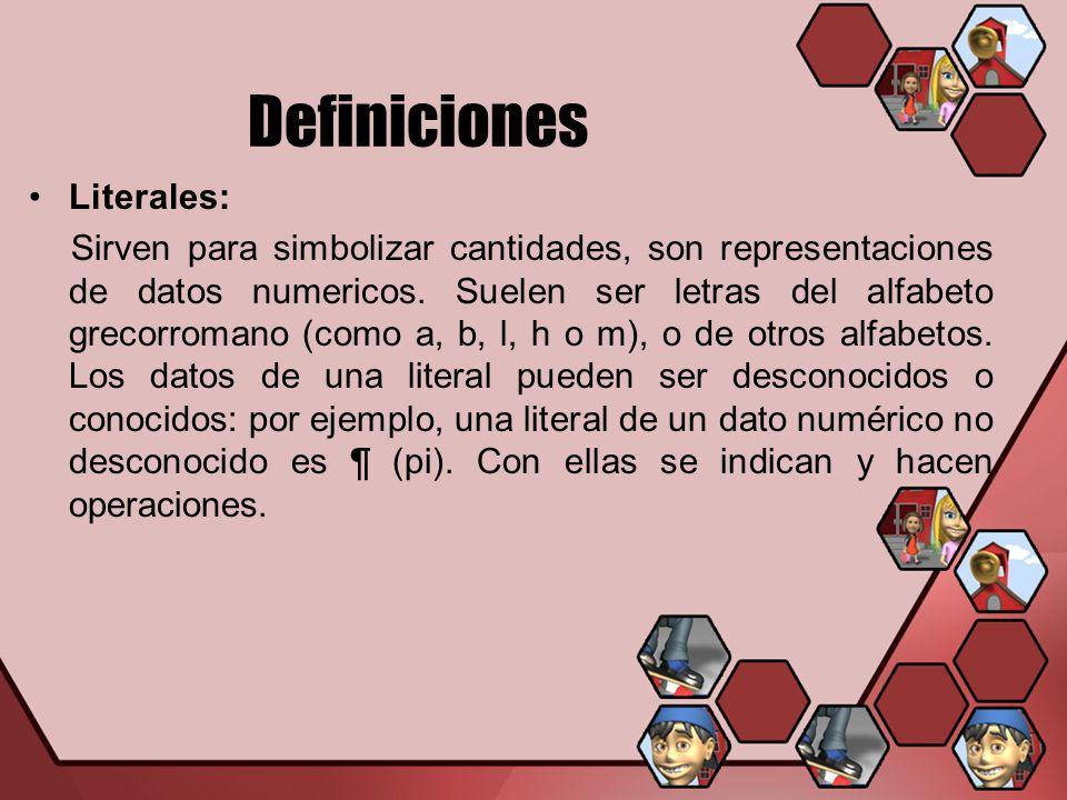 Definiciones Literales: