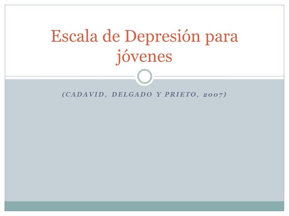 Escala de Depresión para jóvenes