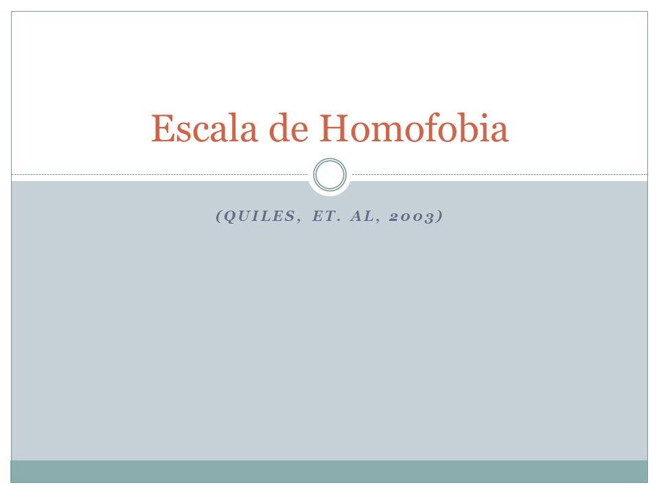 Escala de Homofobia (Quiles, ET. al, 2003)