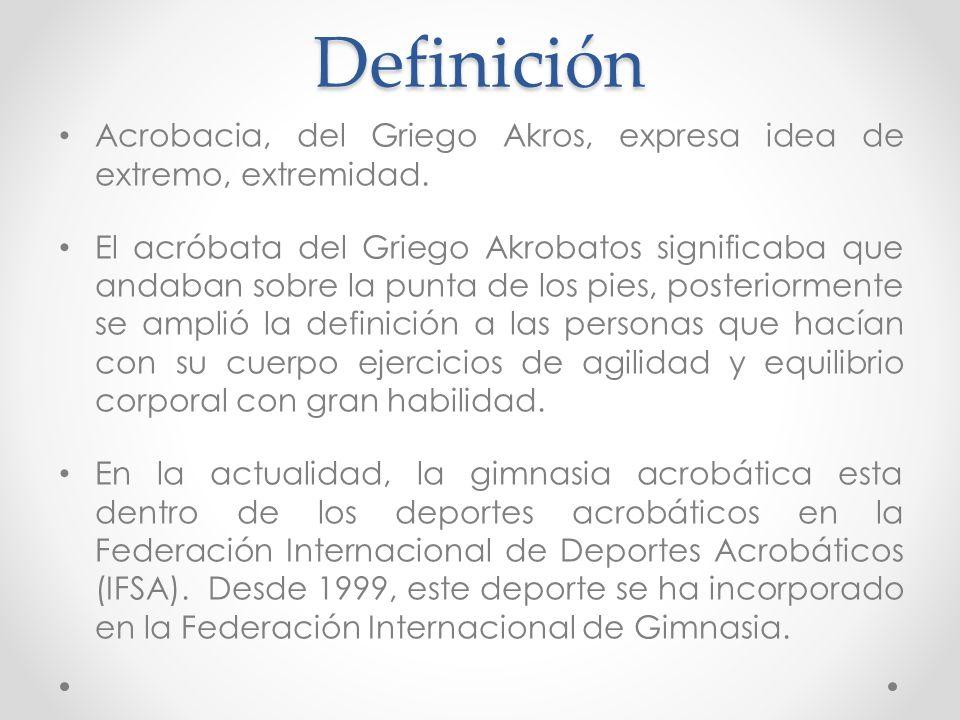 Gimnasia acrob tica acrosport ppt descargar for Definicion de gimnasia