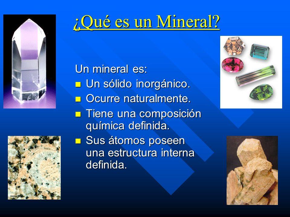 Minerales: Clasificaci...