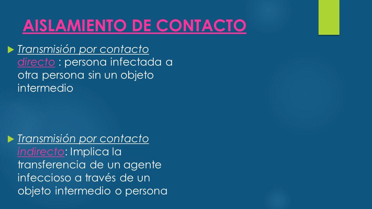 AISLAMIENTO DE CONTACTO