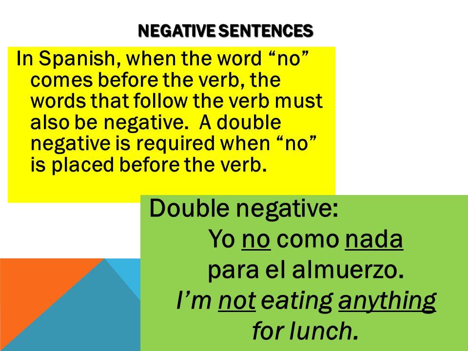 Negative Words Double Negatives Word Usage Worksheets 8506076