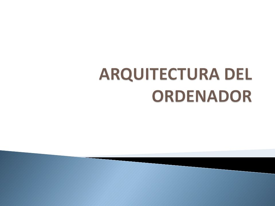 Arquitectura del ordenador ppt video online descargar for Arquitectura ordenador