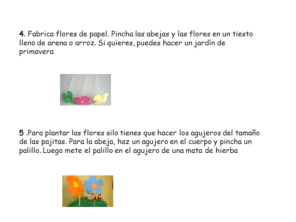4. Fabrica flores de papel