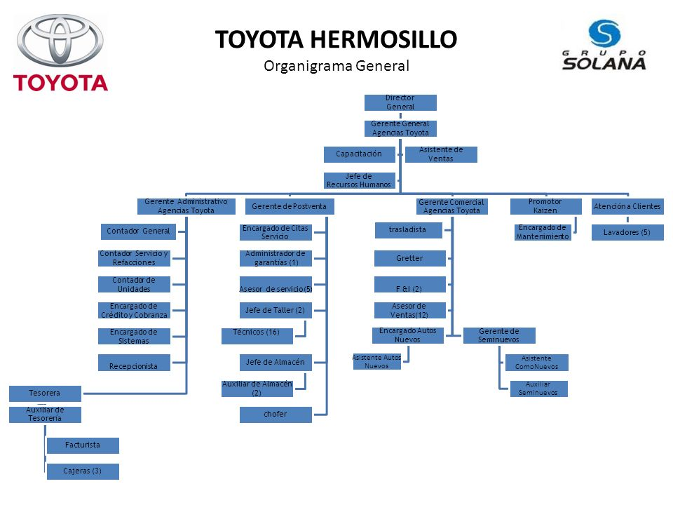 TOYOTA HERMOSILLO Organigrama General