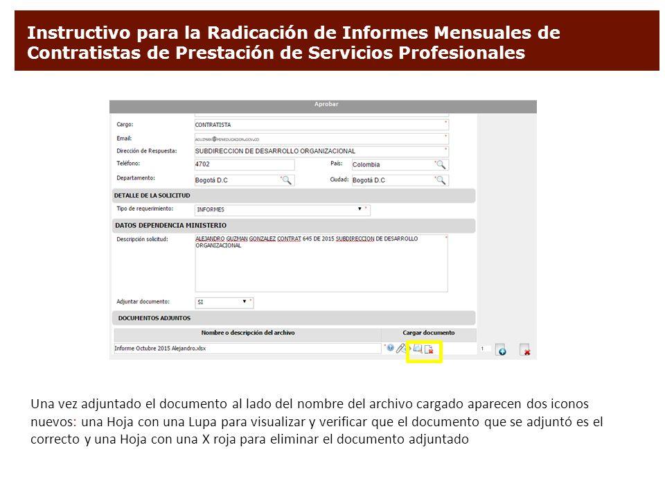 Instructivo para la radicaci n de informes mensuales de - Que es un contratista ...
