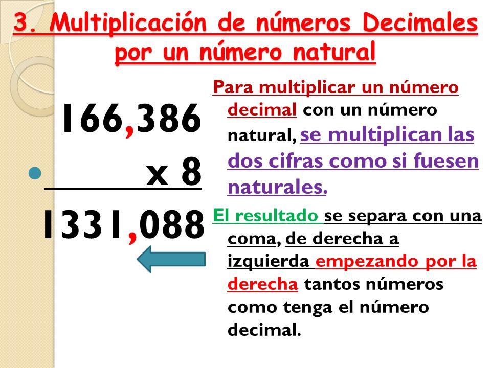 Resultado de imagen de la multiplicación de decimal por un numero natural