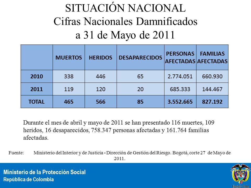 Ministerio de la protecci n social rep blica de colombia for Direccion ministerio del interior bogota