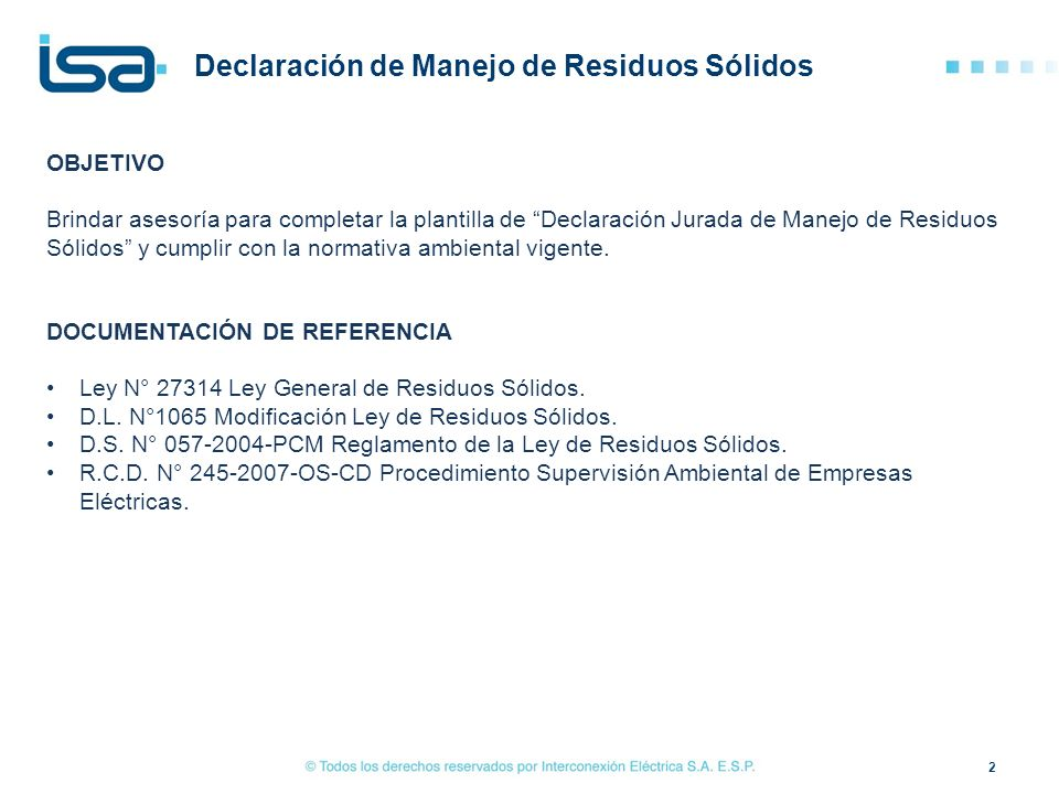 "Instructivo: ""Declaración de Manejo de Residuos Sólidos"" - ppt video ..."