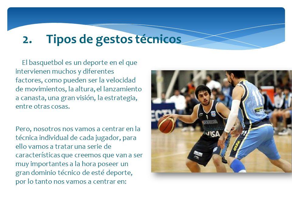 2. Tipos de gestos técnicos