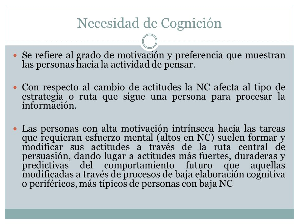 Necesidad de Cognición