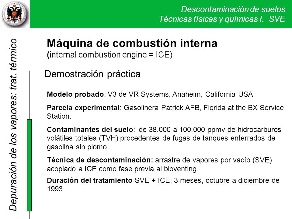 Máquina de combustión interna (internal combustion engine = ICE)