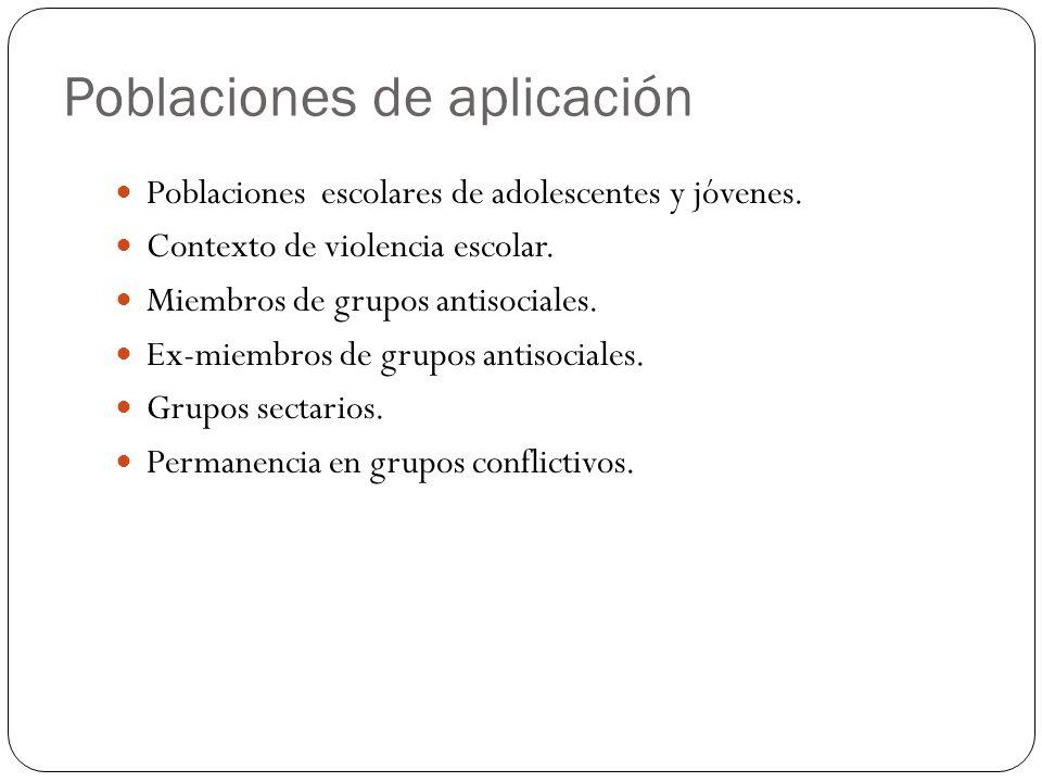 Poblaciones de aplicación