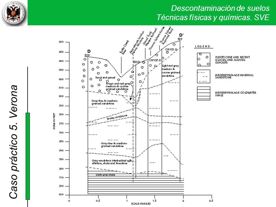 El sustrato está constituido por un paquete de depósitos aluviales de arenas con gravas y limos de 3 a 15 metros de espesor, que se depositan sobre una cuarzoarenisca de edad Mississipiense de la formación Marshall Sandstone que presenta intercalaciones de calizas, limolitas y pizarras, de unos 30 metros de espesor.
