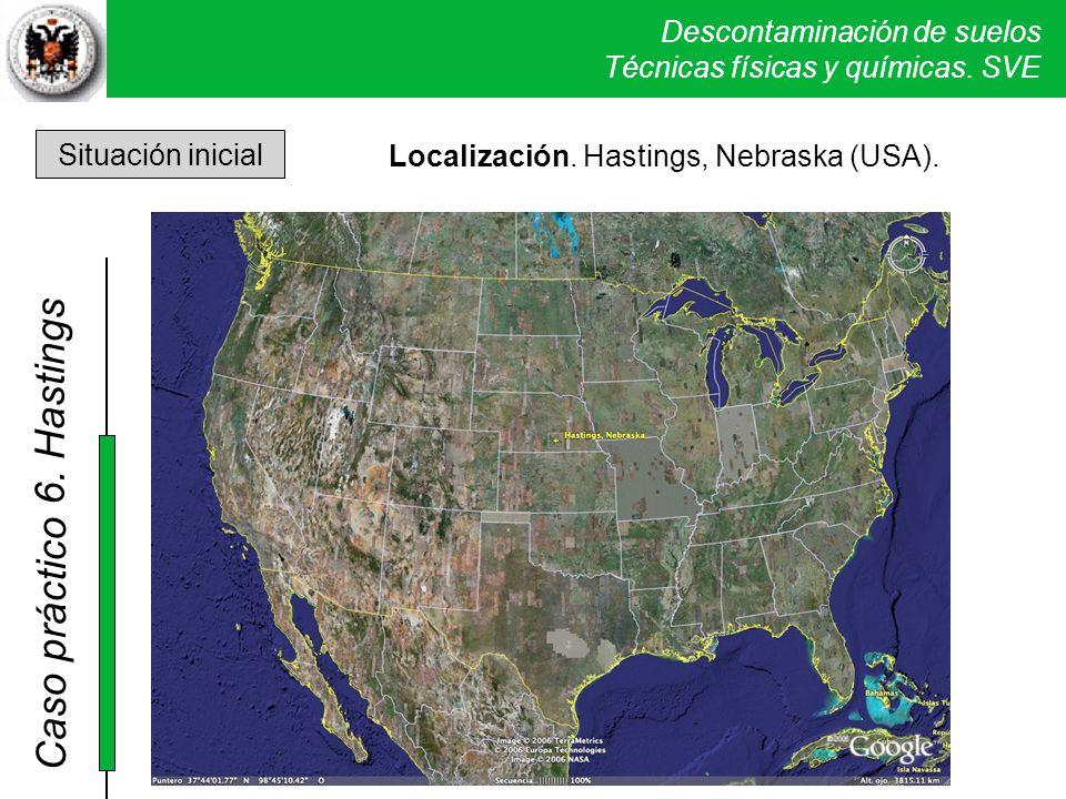 6. Hastings Situación inicial Localización. Hastings, Nebraska (USA).