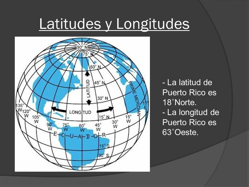 Latitudes y Longitudes