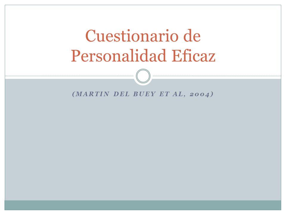 Cuestionario de Personalidad Eficaz