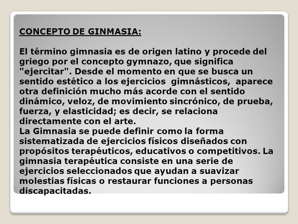 Gimnasia 5 b sico ppt descargar for Definicion de gimnasia