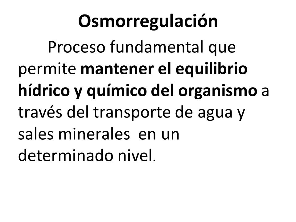 Osmorregulación
