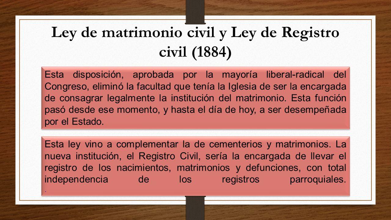 Registro De Matrimonio Catolico En Notaria : El estado liberal y la iglesia católica ppt descargar