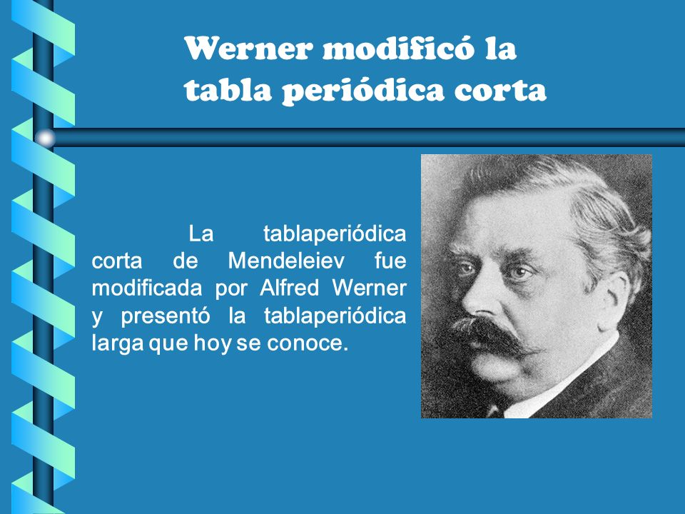 Tabla peridica ppt video online descargar 10 werner modific la tabla peridica corta la tablaperidica corta de mendeleiev urtaz Choice Image