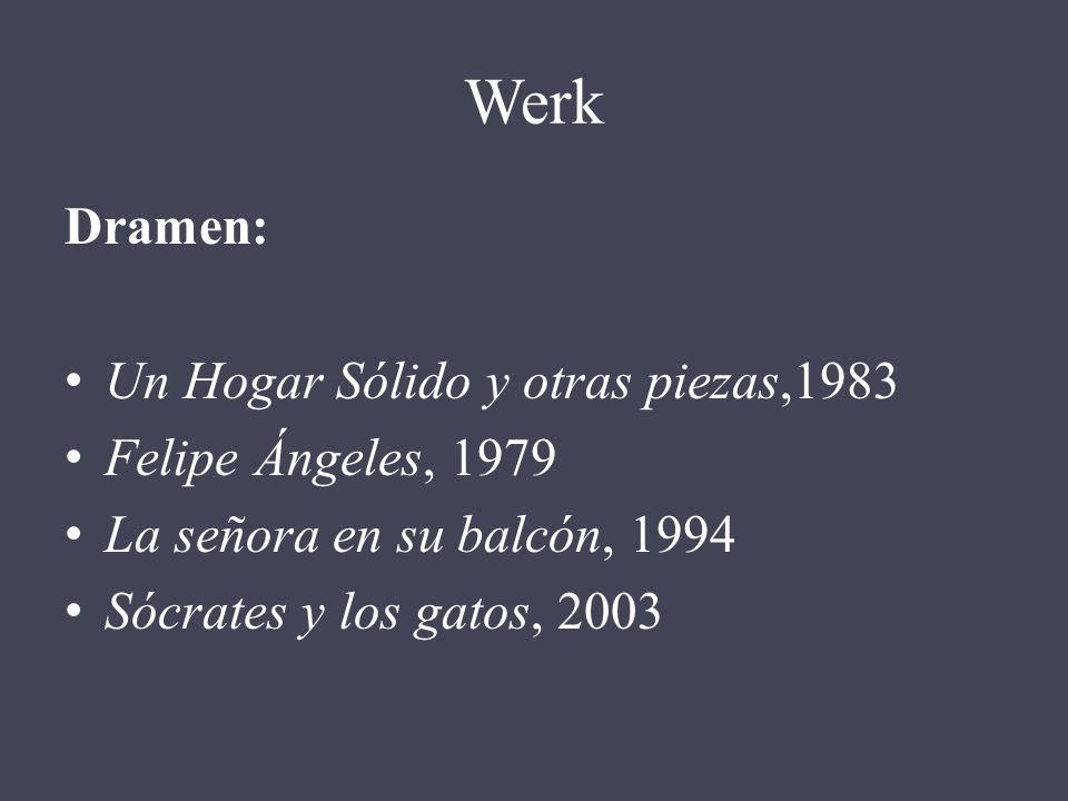 Werk Dramen: Un Hogar Sólido y otras piezas,1983 Felipe Ángeles, 1979