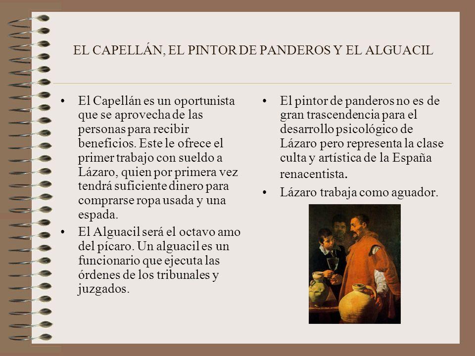 EL CAPELLÁN, EL PINTOR DE PANDEROS Y EL ALGUACIL
