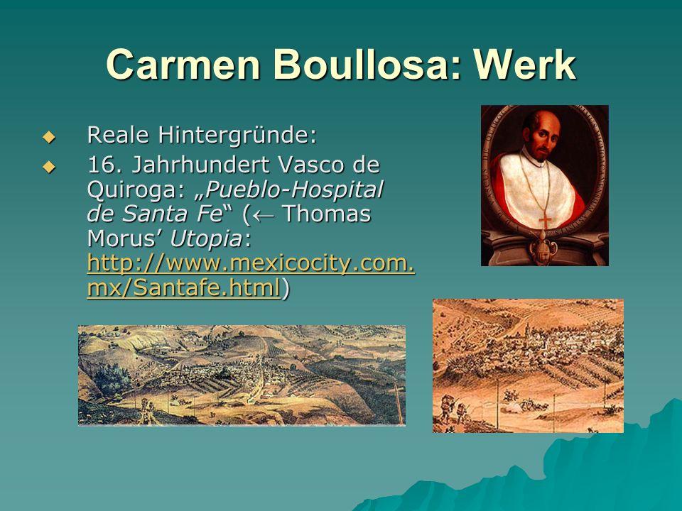 Carmen Boullosa: Werk Reale Hintergründe:
