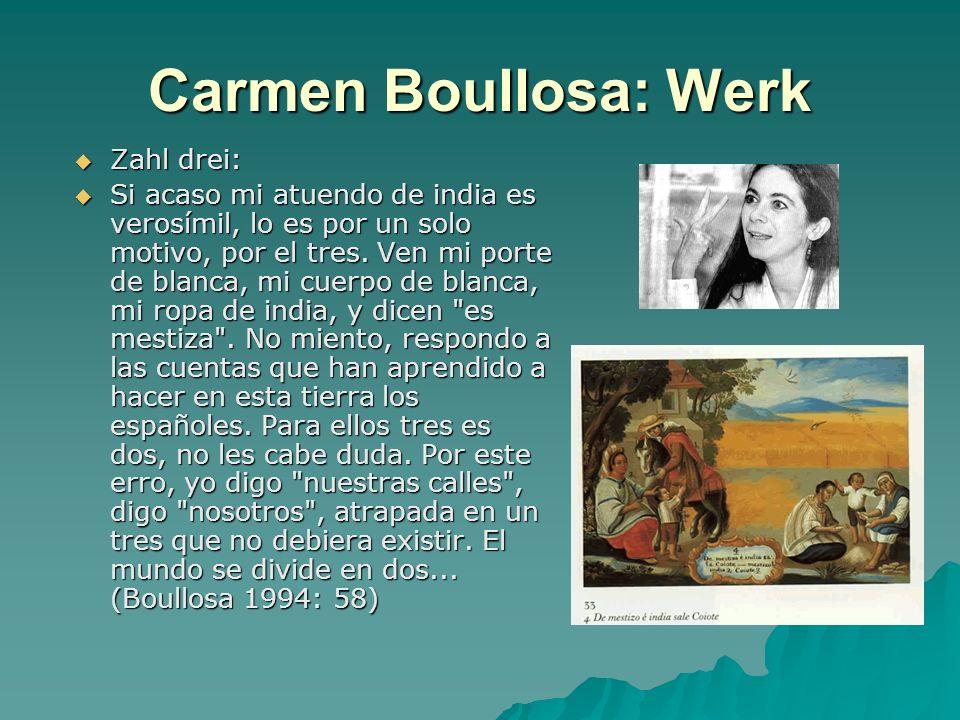 Carmen Boullosa: Werk Zahl drei: