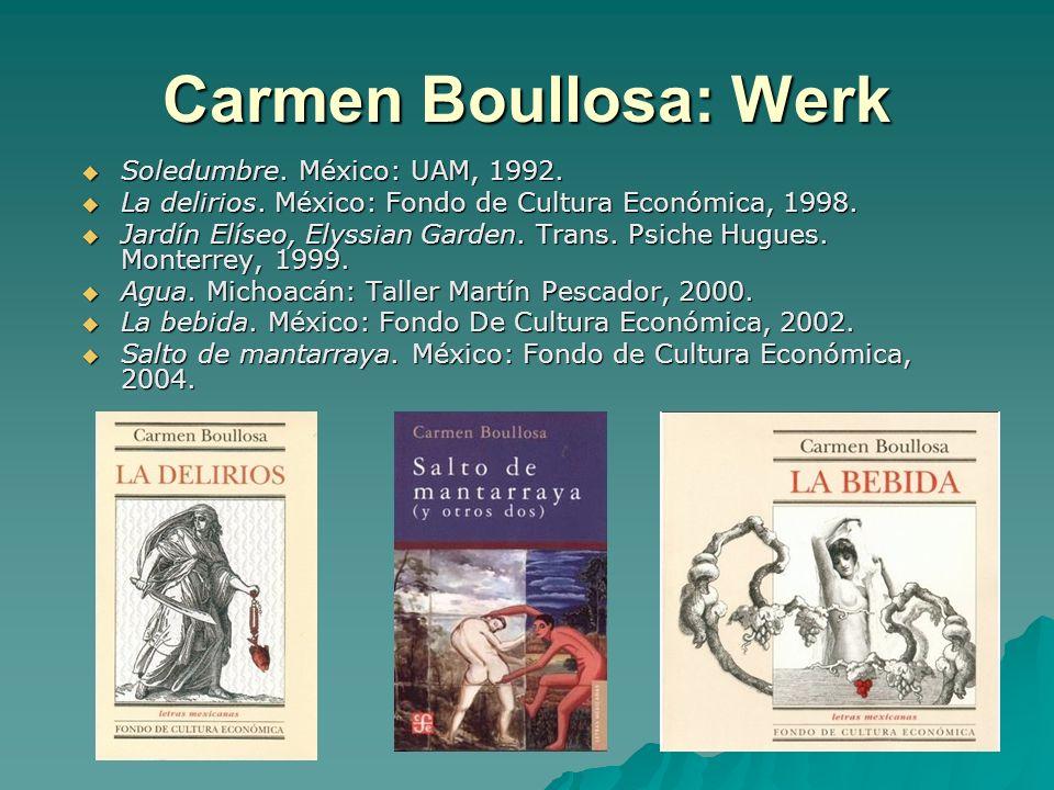 Carmen Boullosa: Werk Soledumbre. México: UAM, 1992.