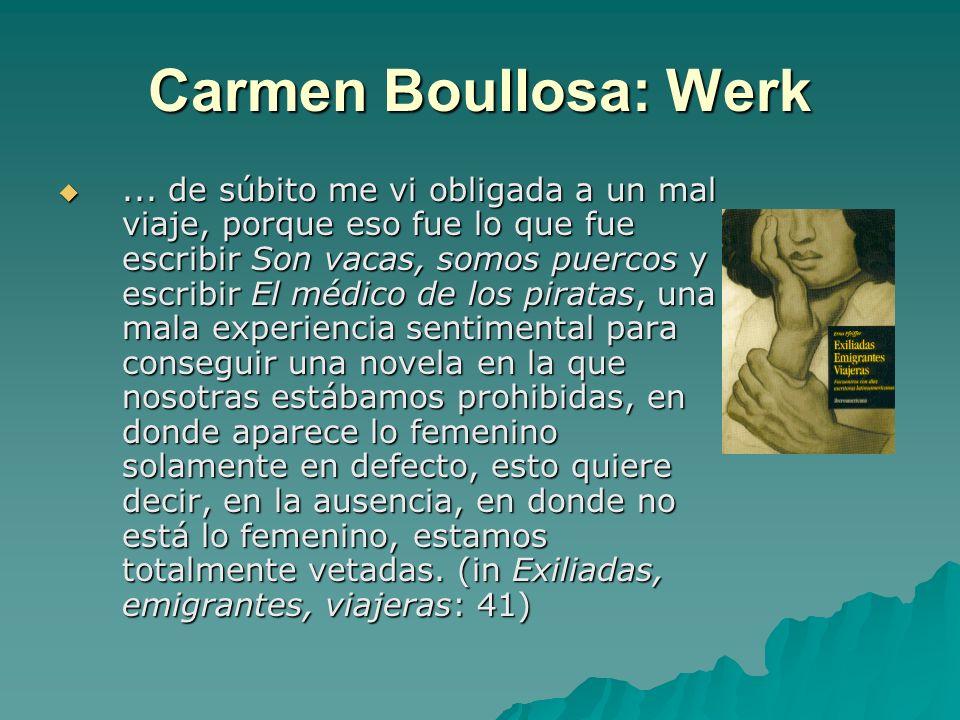 Carmen Boullosa: Werk