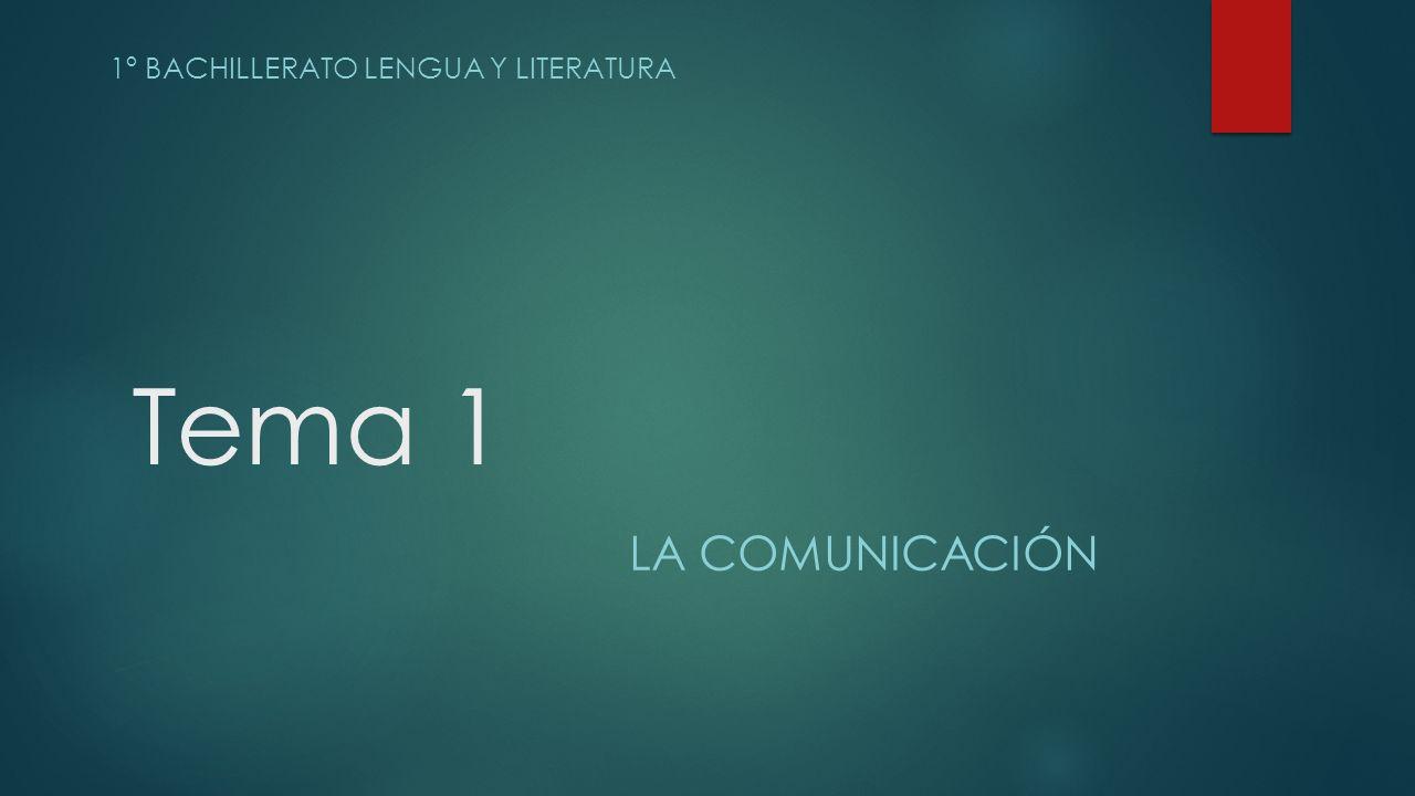 1º bachillerato lengua y literatura