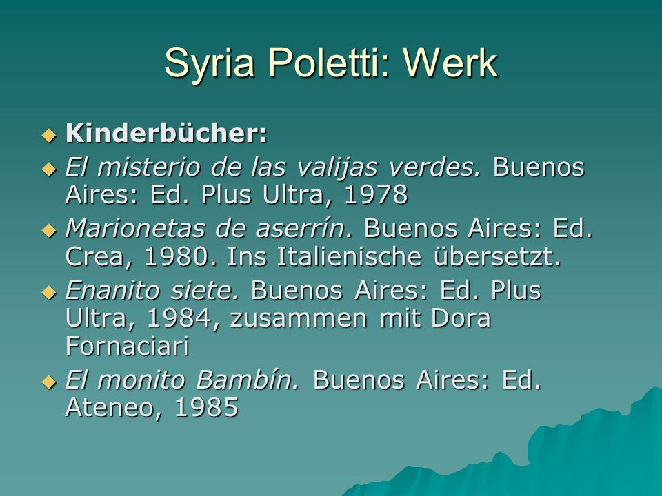 Syria Poletti: Werk Kinderbücher: