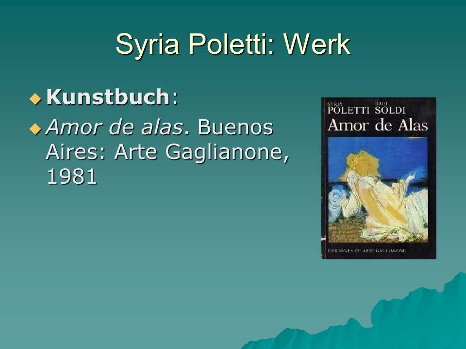 Syria Poletti: Werk Kunstbuch: