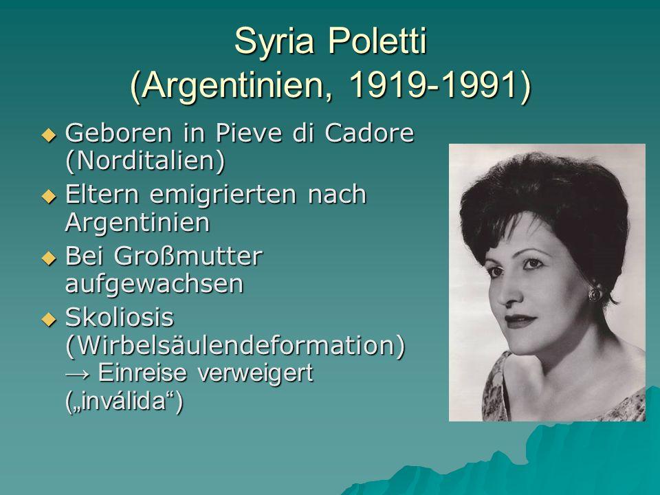 Syria Poletti (Argentinien, 1919-1991)