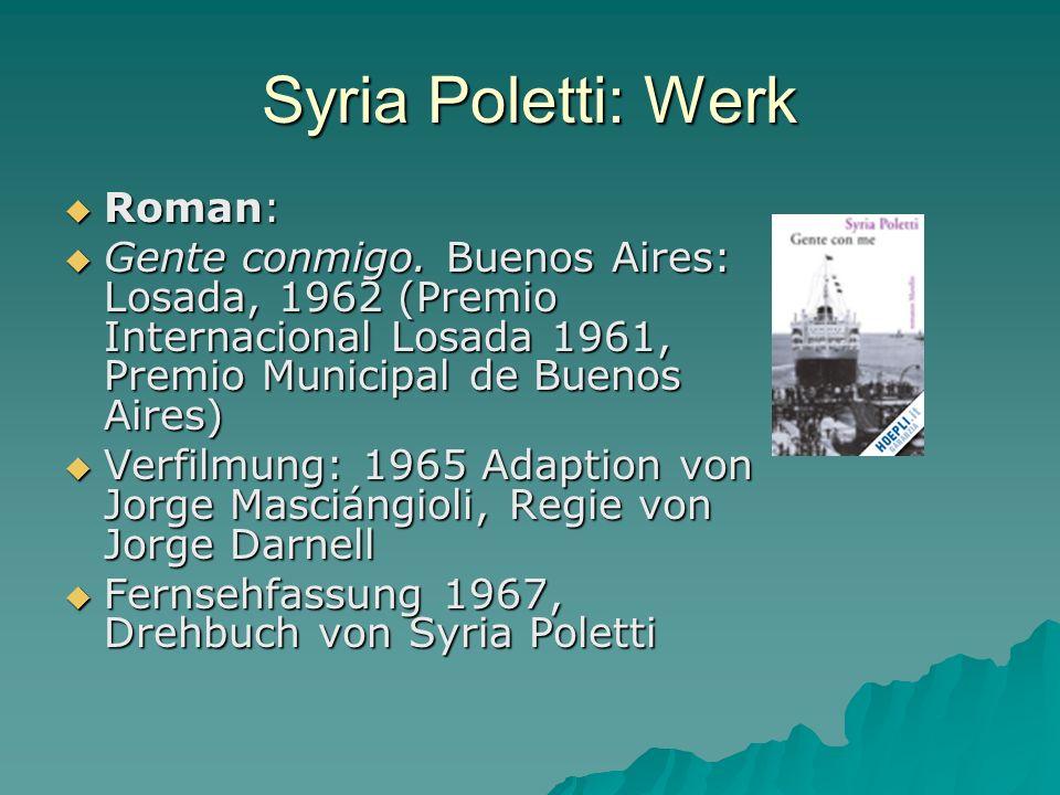 Syria Poletti: Werk Roman: