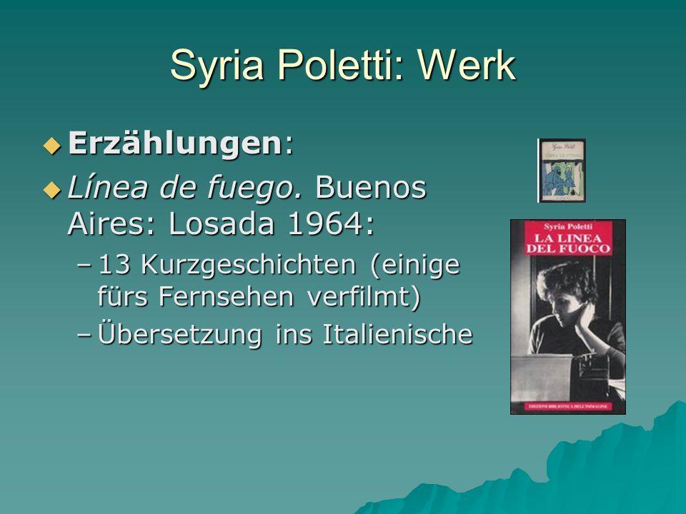 Syria Poletti: Werk Erzählungen:
