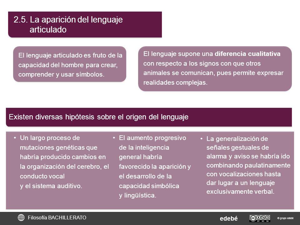 2.5. La aparición del lenguaje articulado