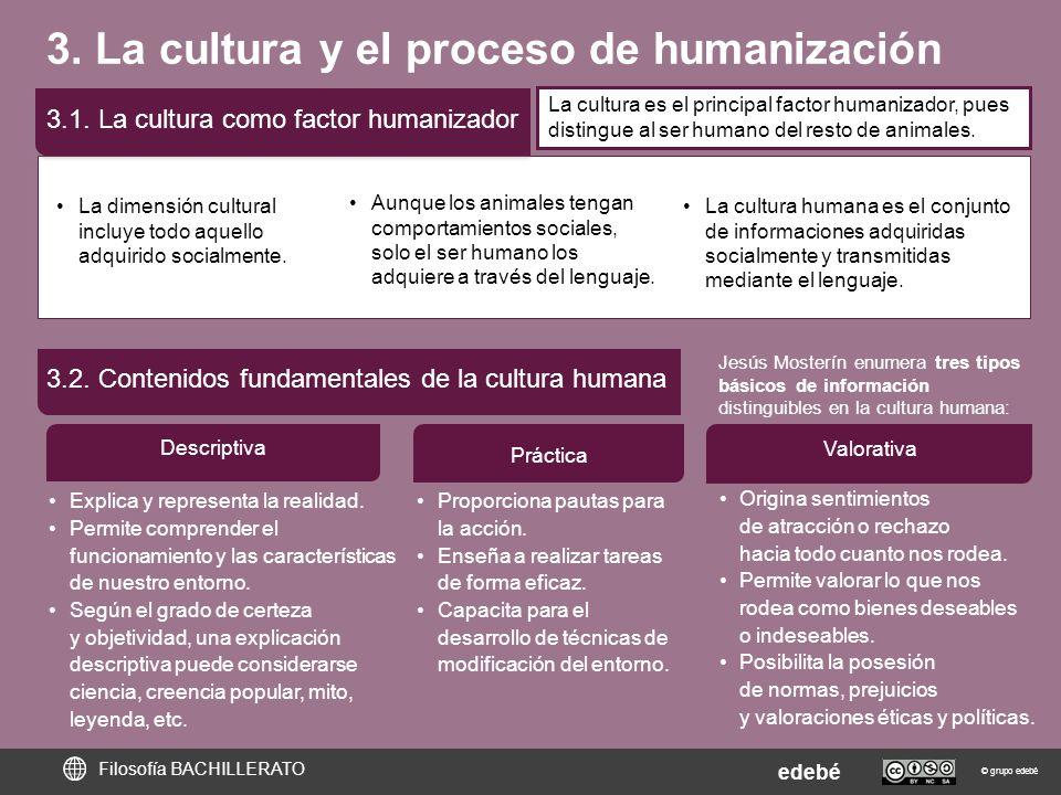 3. La cultura y el proceso de humanización