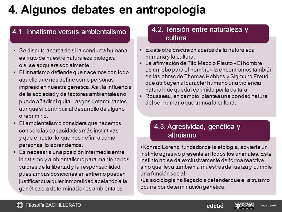 4. Algunos debates en antropología