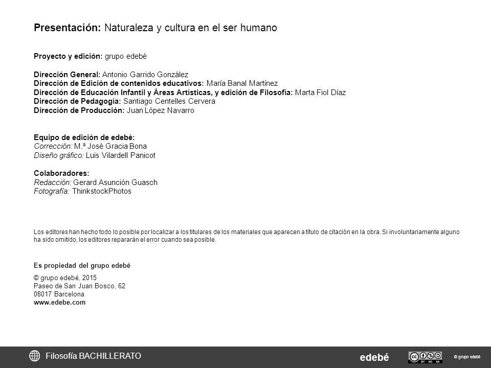 Presentación: Naturaleza y cultura en el ser humano