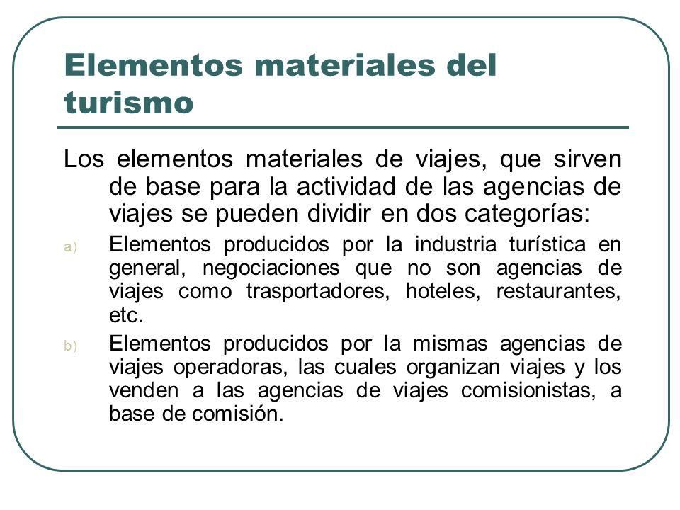 Elementos materiales del turismo