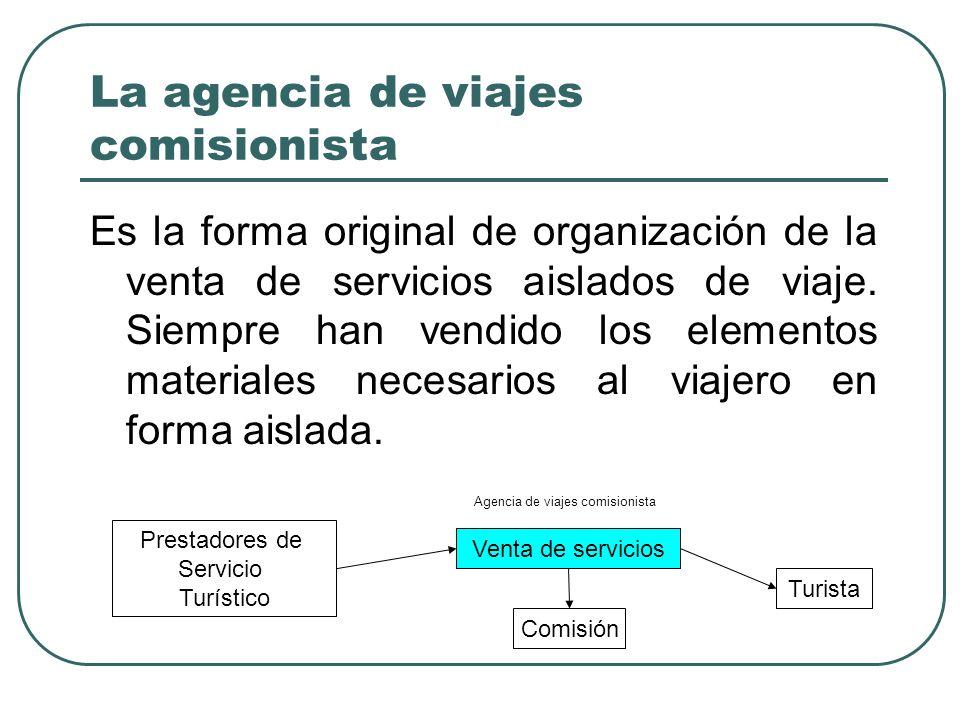 La agencia de viajes comisionista