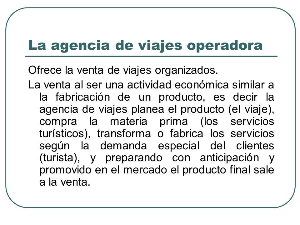 La agencia de viajes operadora