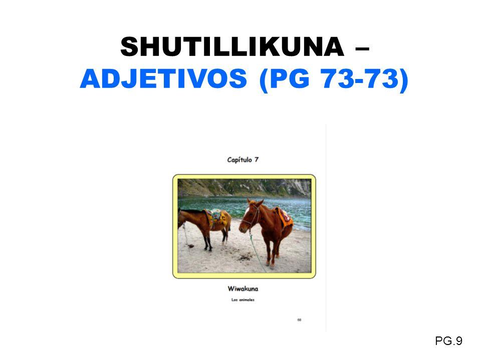 SHUTILLIKUNA – ADJETIVOS (PG 73-73)