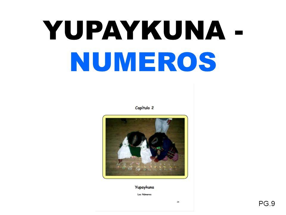 YUPAYKUNA - NUMEROS PG.9