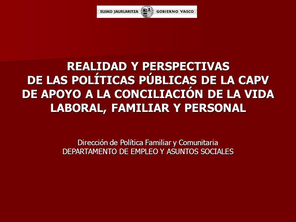 REALIDAD Y PERSPECTIVAS DE LAS POLÍTICAS PÚBLICAS DE LA CAPV