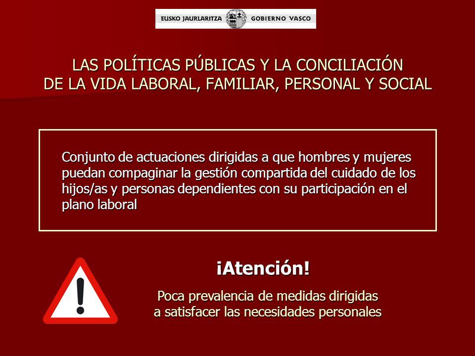 LAS POLÍTICAS PÚBLICAS Y LA CONCILIACIÓN DE LA VIDA LABORAL, FAMILIAR, PERSONAL Y SOCIAL